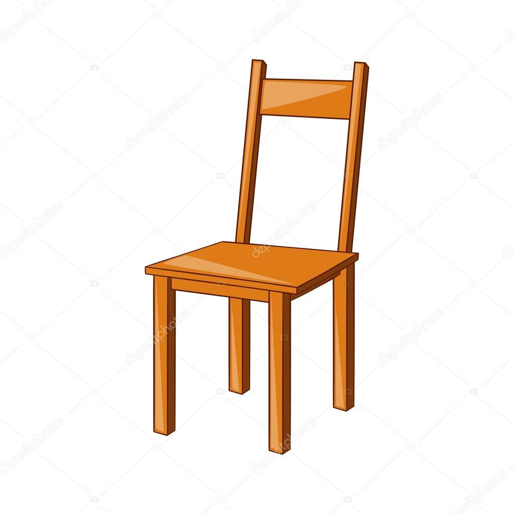 Icono de la silla de madera estilo de dibujos animados for Imagenes de sillas de madera