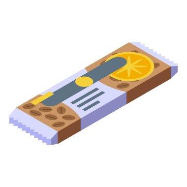 Fruit cereal snack bar icon. Isometric of fruit cereal snack bar vector icon for web design isolated on white background icon