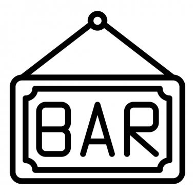 Bar icon. Outline bar vector icon for web design isolated on white background icon