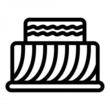 Cake icon. Outline cake vector icon for web design isolated on white background icon