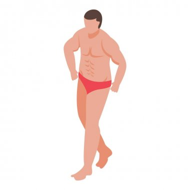 Man bodybuilding icon. Isometric of man bodybuilding vector icon for web design isolated on white background icon