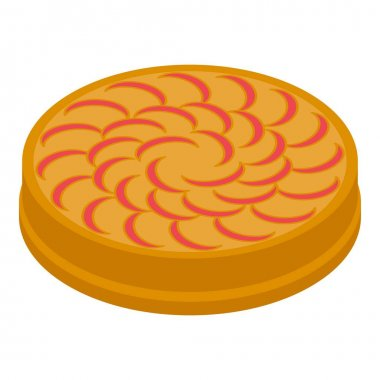 Autumn apple pie icon. Isometric of autumn apple pie vector icon for web design isolated on white background icon