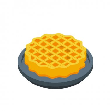 Sweet apple pie icon. Isometric of sweet apple pie vector icon for web design isolated on white background icon