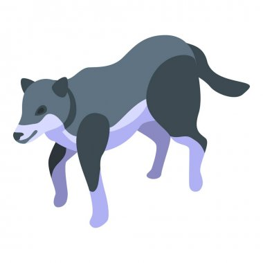 Forest wolf icon. Isometric of forest wolf vector icon for web design isolated on white background icon