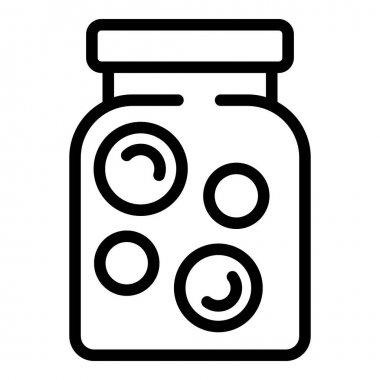 Preserves can icon. Outline preserves can vector icon for web design isolated on white background icon