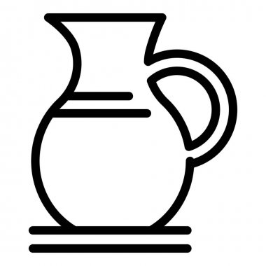 Dairy pitcher icon. Outline dairy pitcher vector icon for web design isolated on white background icon