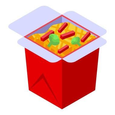Wok box icon. Isometric of wok box vector icon for web design isolated on white background icon