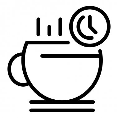 Coffee break icon. Outline coffee break vector icon for web design isolated on white background icon