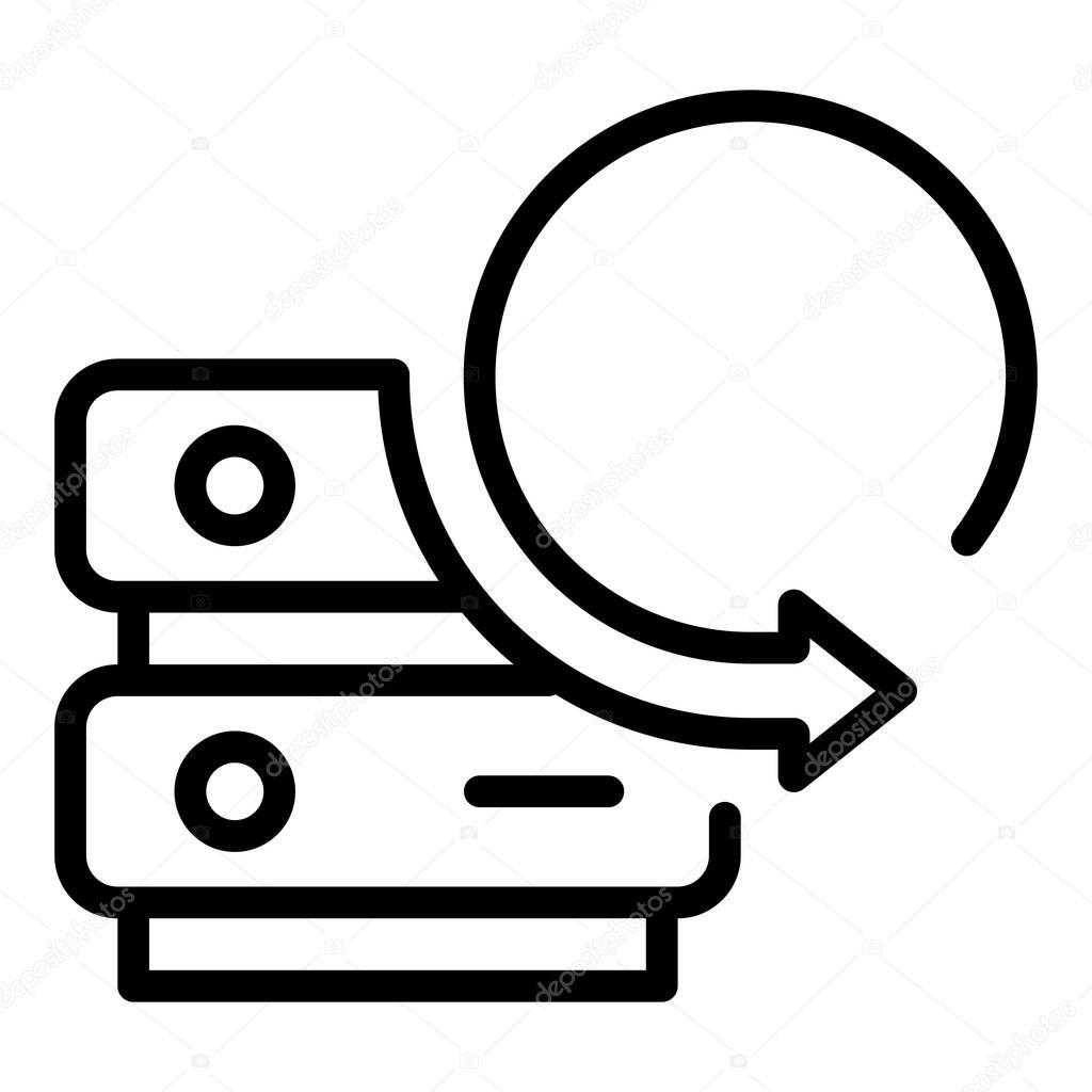 Server data copy icon icon