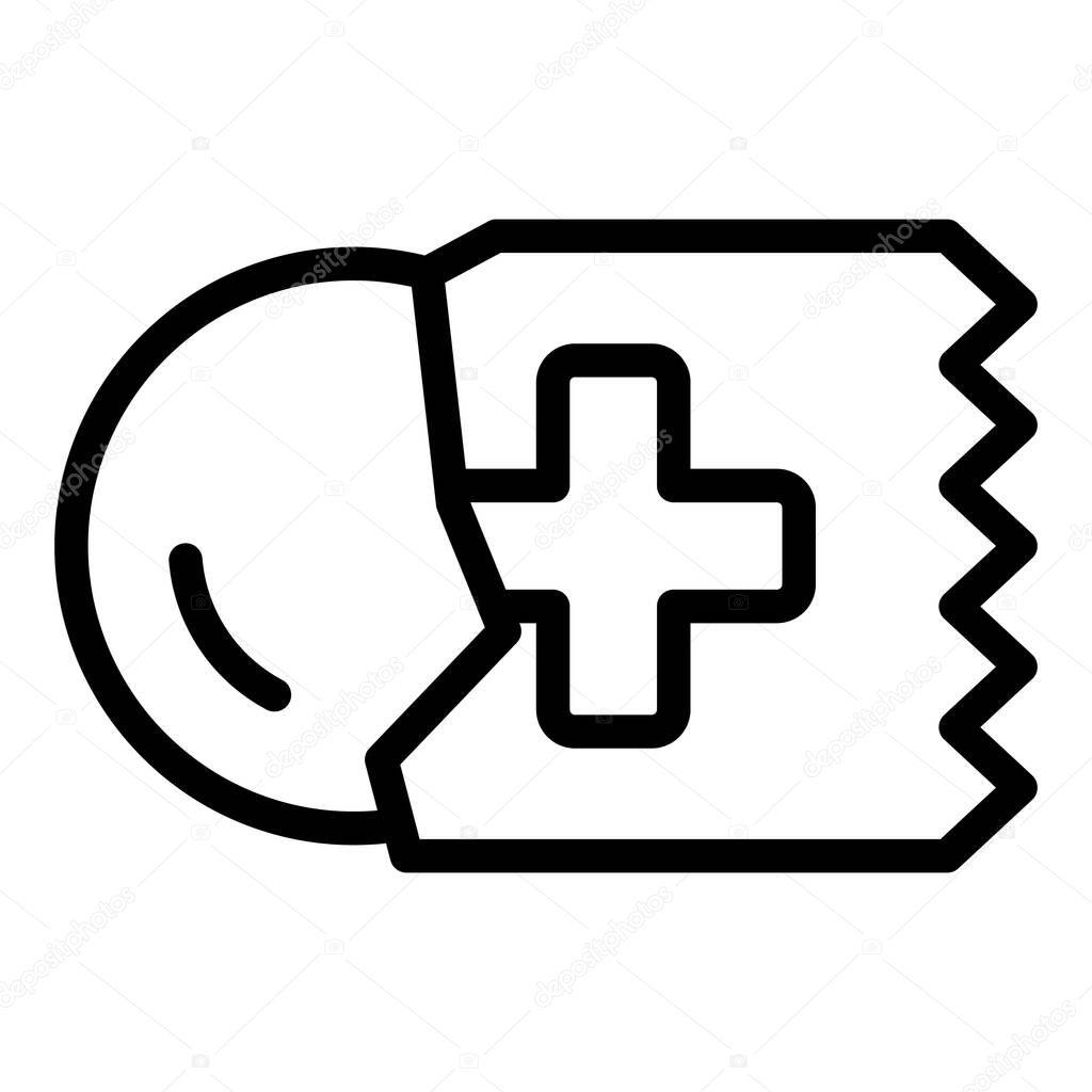 Throat lozenge icon icon