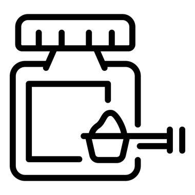 Vitamin powder icon. Outline vitamin powder vector icon for web design isolated on white background icon