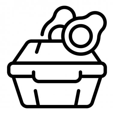 Avocado lunch box icon. Outline avocado lunch box vector icon for web design isolated on white background icon