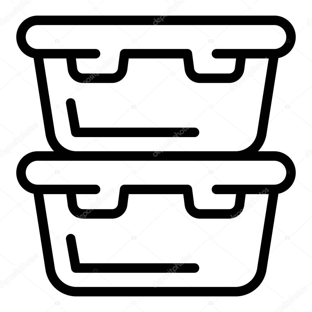 Food containers icon icon