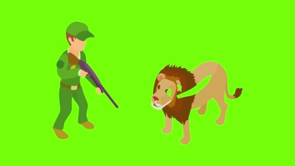African safari icon animation