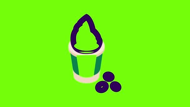 Animation mit gefrorenem Joghurt
