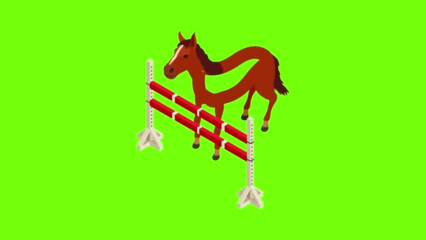 Animace ikon jezdeckého sportu