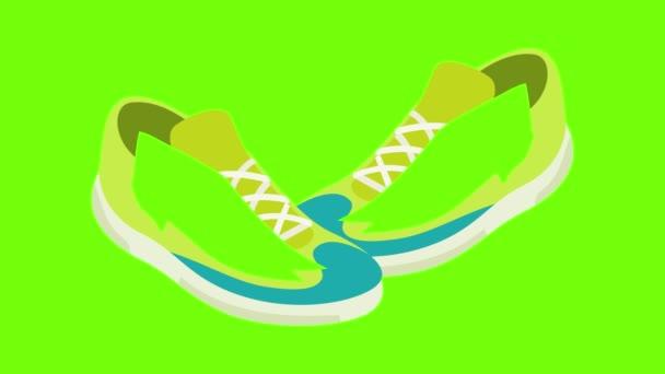 Animation mit grünen Turnschuhen