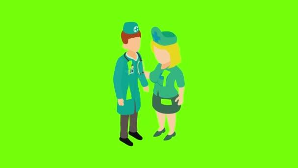 Hospital staff icon animation