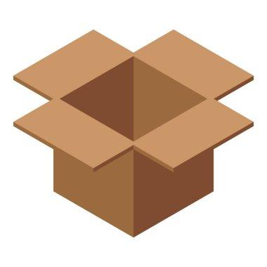 Carton box icon. Isometric of Carton box vector icon for web design isolated on white background icon