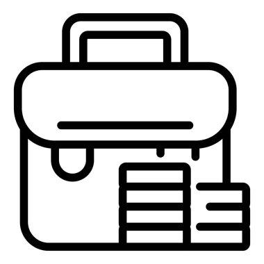Briefcase market studies icon. Outline Briefcase market studies vector icon for web design isolated on white background icon