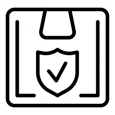 Secured parcel icon. Outline Secured parcel vector icon for web design isolated on white background icon