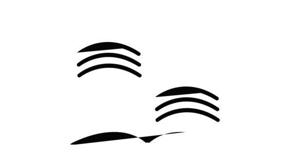 Old open magic book icon animation