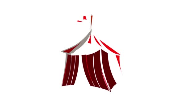 Medieval knight tent icon animation