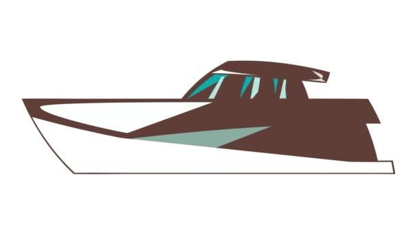 Big yacht icon animation