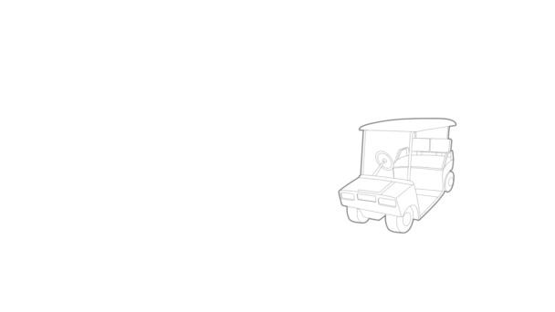 Animation zur Golf-Auto-Ikone