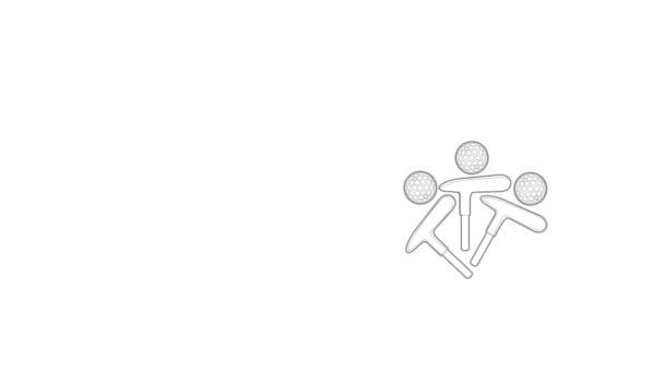 Animation mit Golf-Emblem