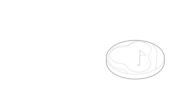 Animation der Golfplatz-Ikone