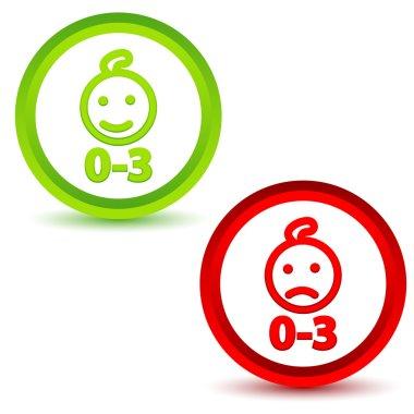 Children under three years icons