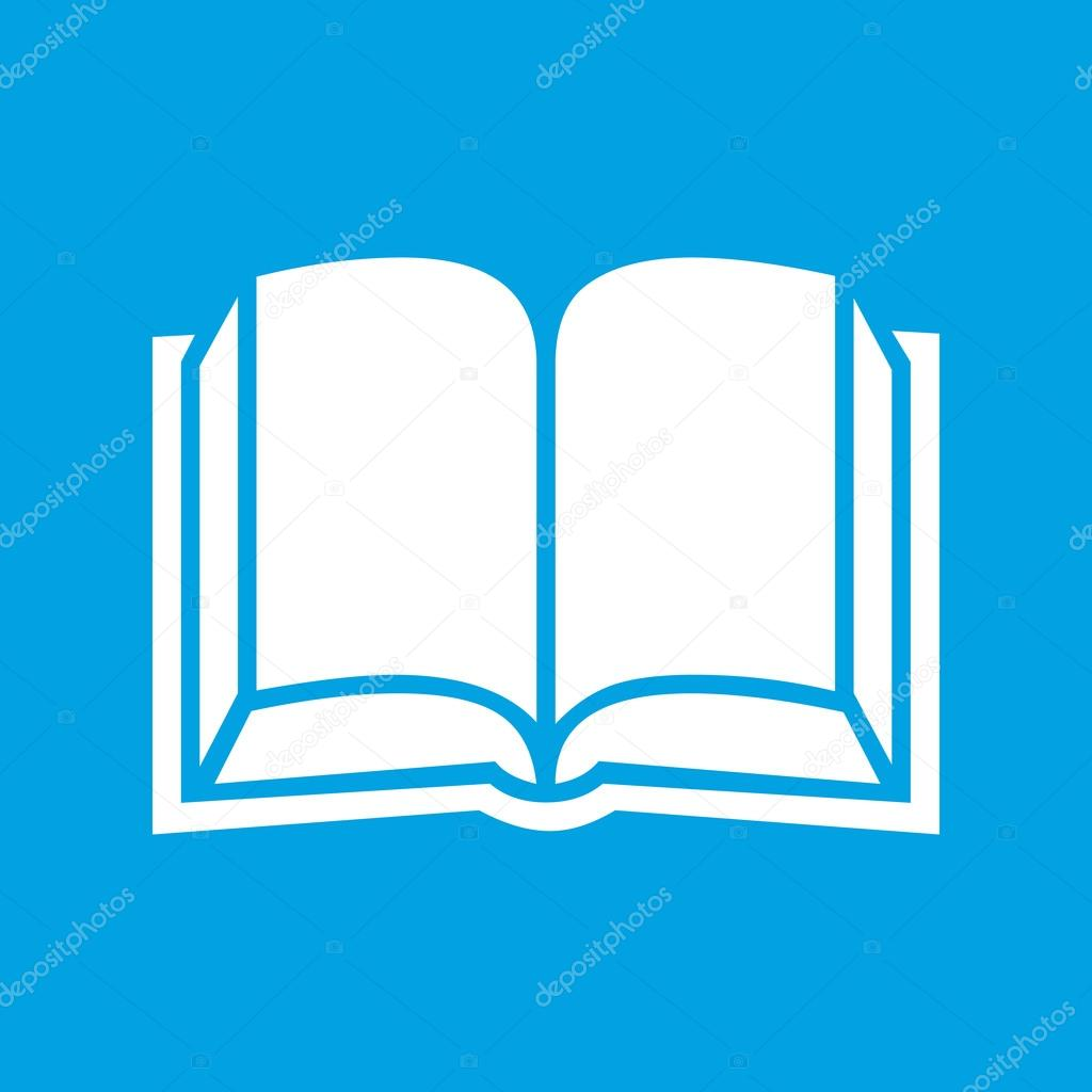 Icone Representant Un Livre Blanc Image Vectorielle