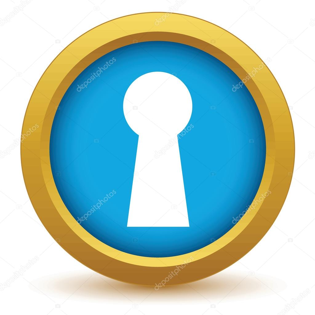 gold keyhole clipart - 800×800