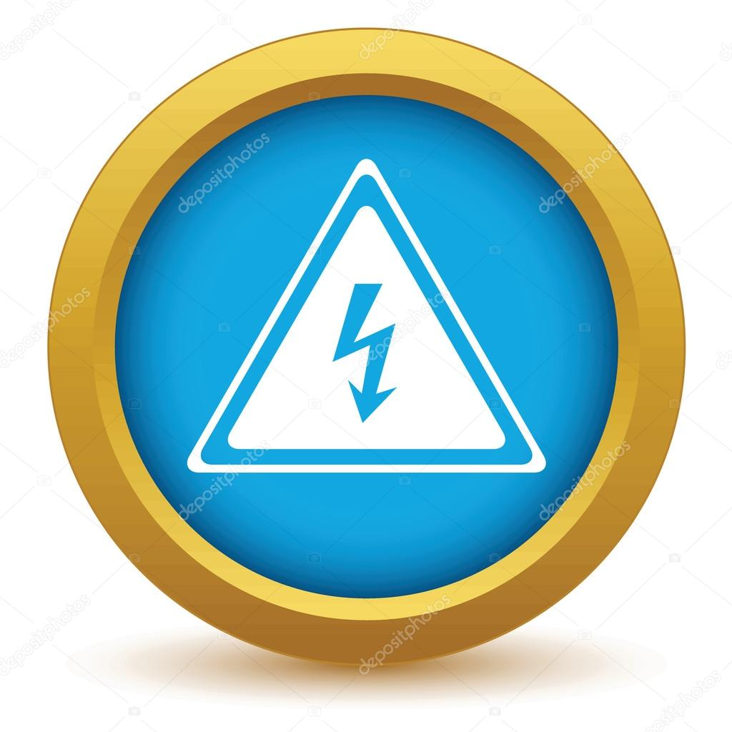 Gold-Spannung-Symbol — Stockvektor © ylivdesign #70655709