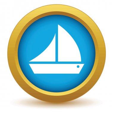 Gold ship icon
