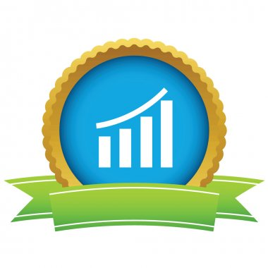Gold growing graph logo