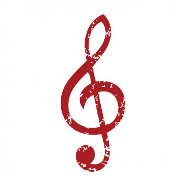 Red grunge music logo