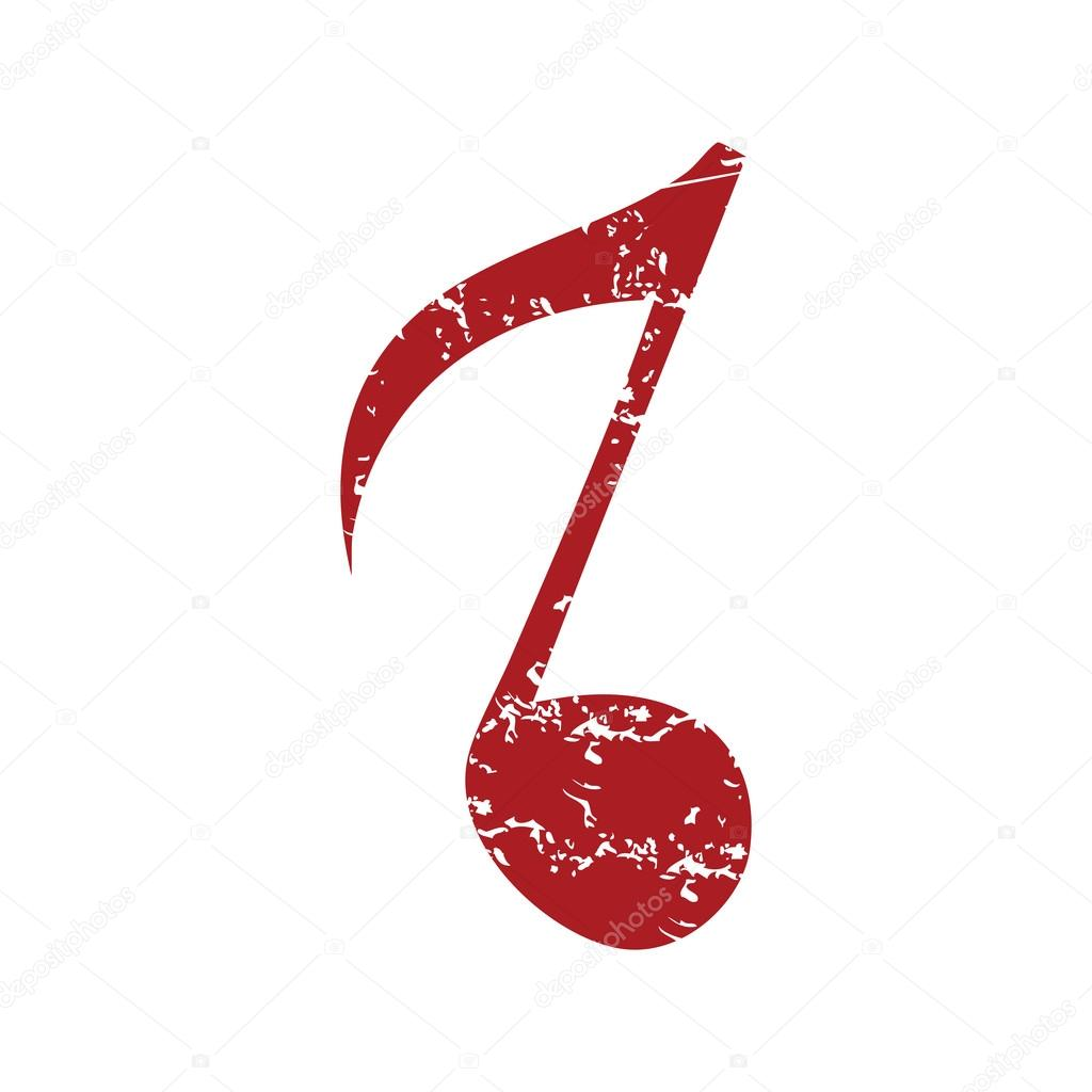 red grunge musical note logo stock vector ylivdesign 71322657 rh depositphotos com Single Music Notes White Music Note Vector