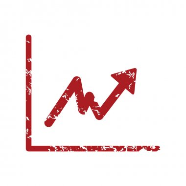 Red grunge unstable graph logo