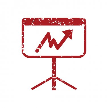New red grunge unstable graph logo
