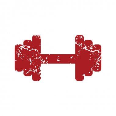 Red grunge weight logo