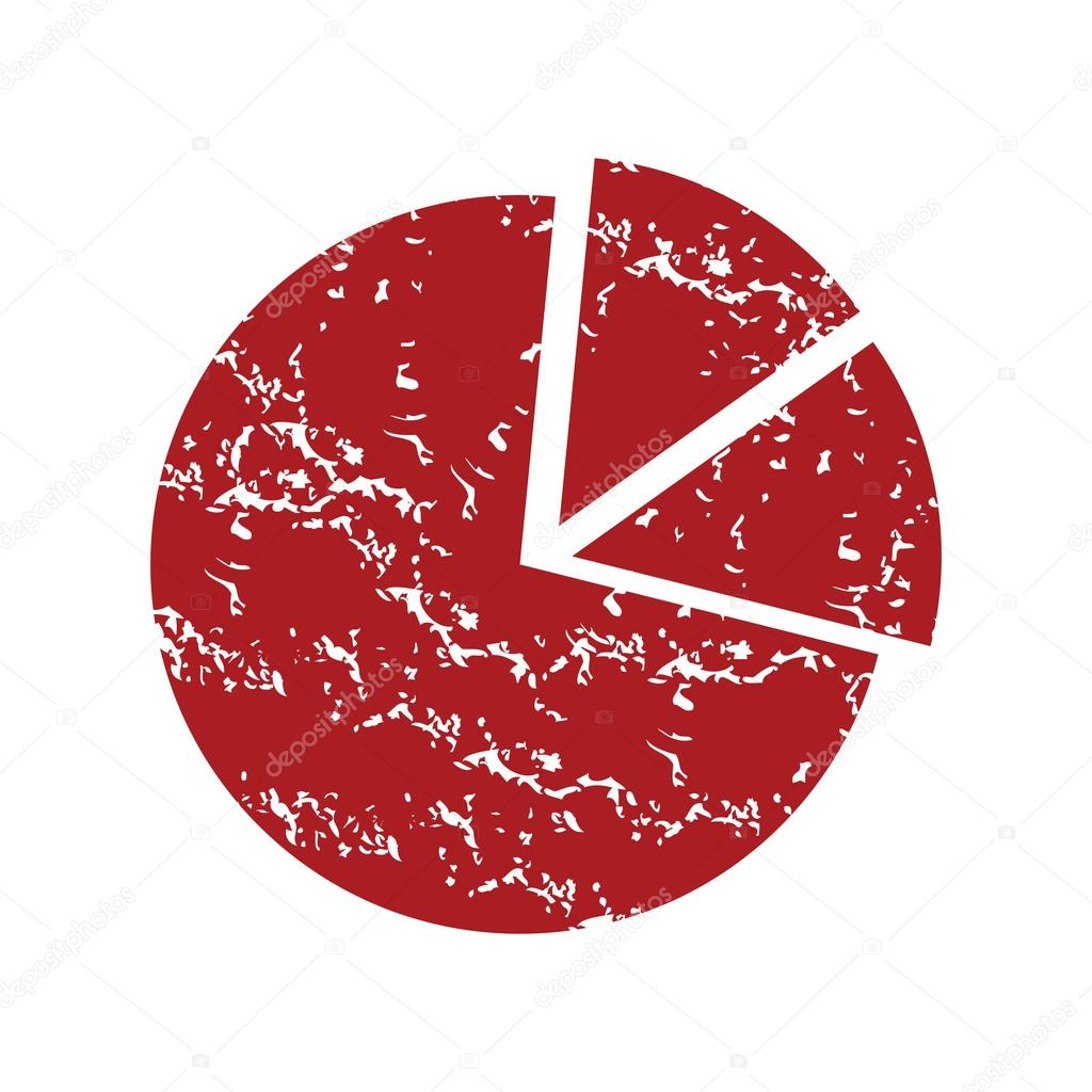 Red Grunge Pie Chart Logo Stock Vector Ylivdesign 71345273