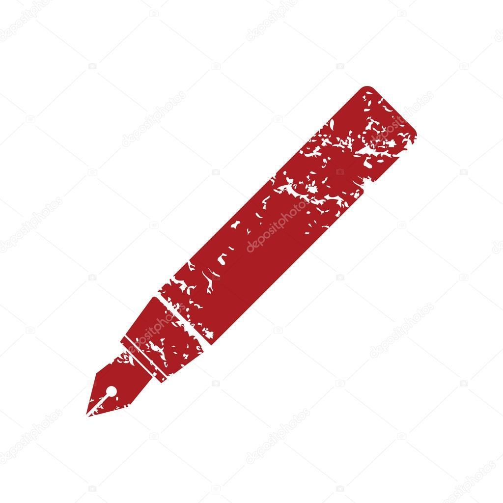 """Après les """"gilets jaunes"""" et les """"gyros bleus""""... les """"stylos rouges""""! - Page 2 Depositphotos_71345413-stock-illustration-red-grunge-pen-logo"""