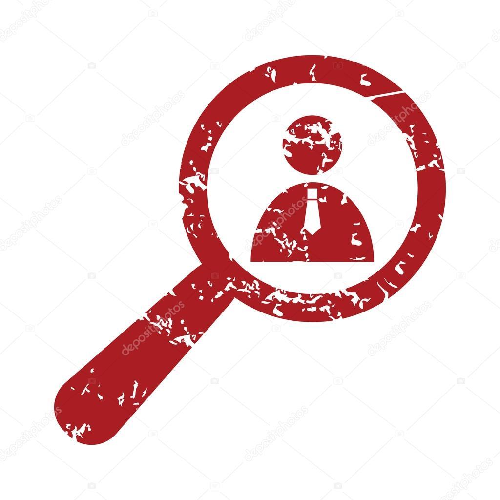 Rot Grunge Suche Person Logo Stockvektor Ylivdesign 71345431