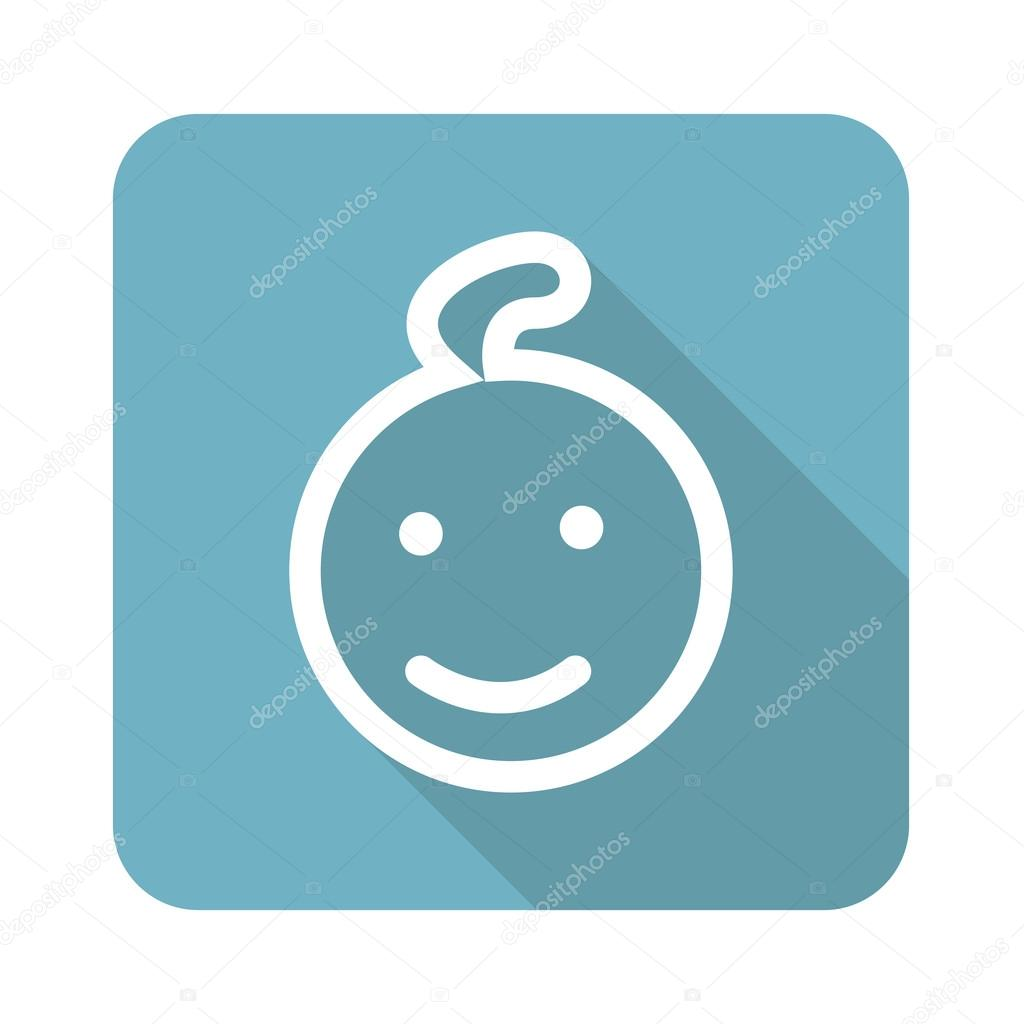 Smiling child icon