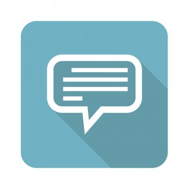 Square text message icon