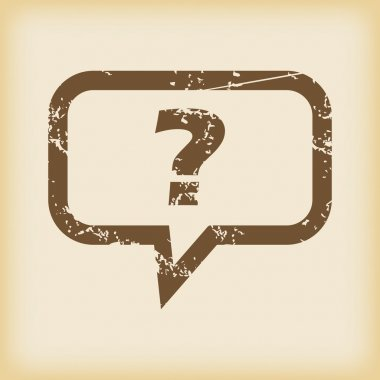 Grungy question icon