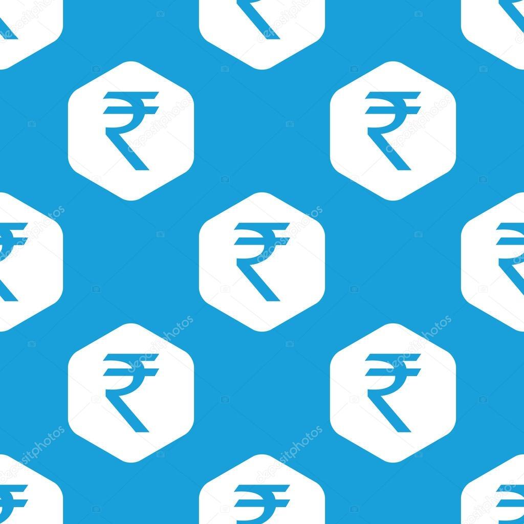 Indian rupee hexagon pattern stock vector ylivdesign 73608651 blue indian rupee symbol in white hexagon repeated on blue vector by ylivdesign buycottarizona