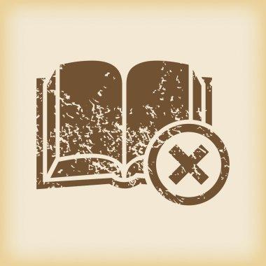 Grungy remove book icon
